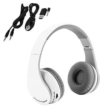 VBESTLIFE Gaming Auriculares Bluetooth Inalámbrico Auriculares de Diadema Plegable con Micrófono Sonido HIFI Bass Surround Auriculares Estéreo para PS4 ...