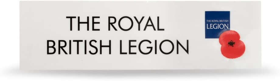 Royal British Legion Poppy Appeal Supporters Sticker//decal X1