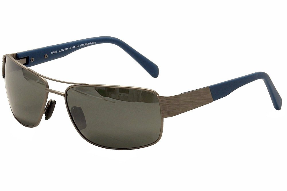 Maui Jim - OHIA 703, [nd], metal, hombre, SATIN GREY BLUE ...
