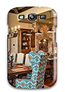 New Cute Funny Open Kitchen And Dining Space Featuring Warm Wood Tones Case Cover/ Galaxy S3 Case Cover