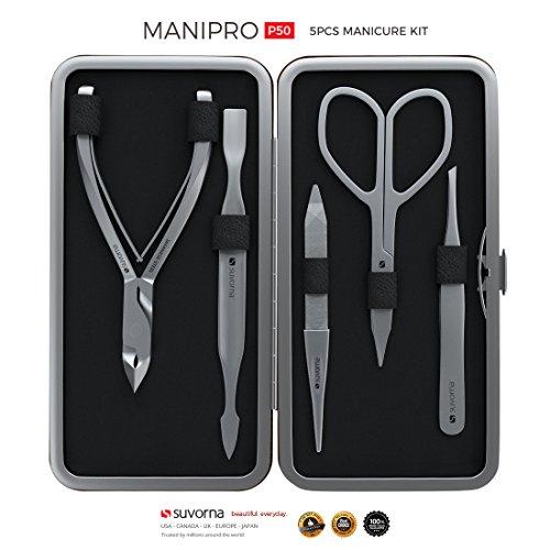 Suvorna Manipro p50 Premium Manicure Kit 5 Pieces (Black)