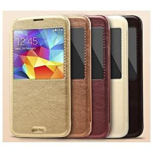 PEACH- ships in 48 hours KA Style Protective Case with Stand for Samsung Galaxy S5 I9600 , Dark Red