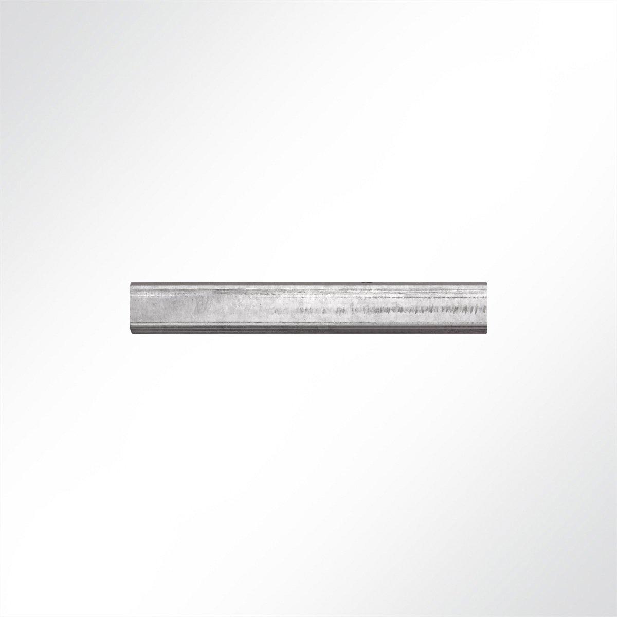 LYSEL Laufschiene verzinkt 25x19x2000 mm Schiebetor Schiebet/ü r Hallentor