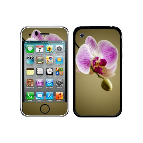 Iphone 3g 3 Gs Flower (Graphics and More Protective Skin Sticker Case for iPhone 3G 3GS - Non-Retail Packaging - Orchid Flower)