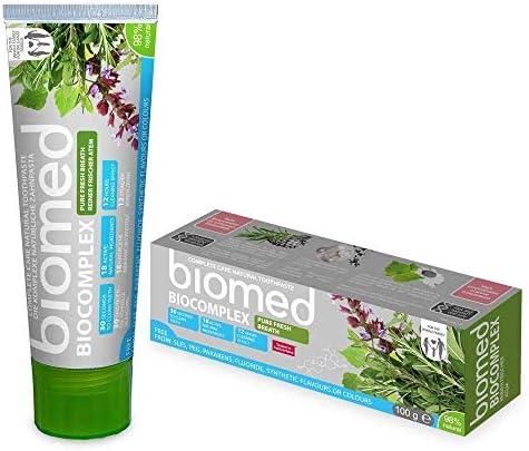 biomed Biocomplex natürliche Zahnpasta ohne Fluorid für einen frischen Atem