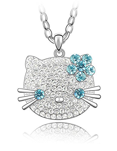 Austrian Crystal Swarovski Necklace (Gold Plated Hello Kitty 25