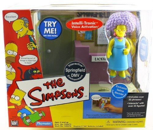 The Simpsons SPRINGFIELD DMV & EXCLUSIVE SELMA BOUVIER World Of Springfield Interactive Environement & Action Figure]()