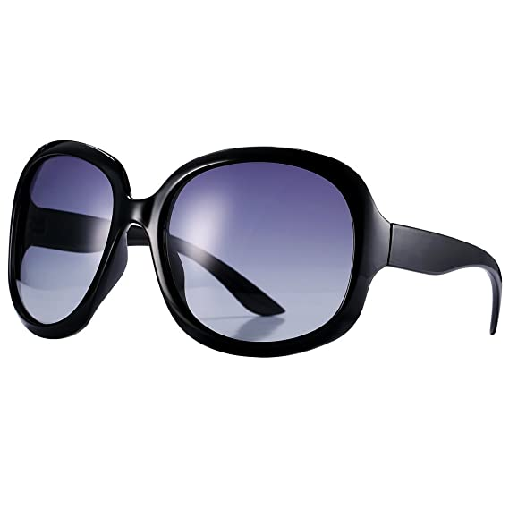 1843c96687 Pro Acme Classic Women s Oversized Polarized Sunglasses (Black