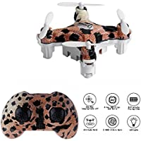 Cellstar Mini RC Quadcopter for Kids 2.4GHz 6-Axis 4 Channels Nano Drone RC Helicopter with 3D Flip and Altitude Hold Mode (Leopard)