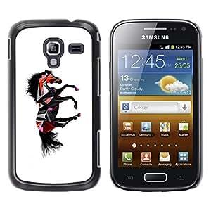 TopCaseStore / la caja del caucho duro de la cubierta de protección de la piel - Dark Fantasy Horse - Samsung Galaxy Ace 2 I8160 Ace II X S7560M