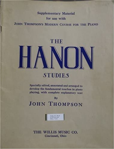 the hanon studies supplementary material for modern course for the piano
