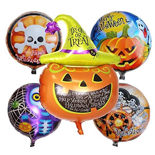 Lannmart 5pcs Helloween foil Balloons Halloween Party Decorations air Balls Inflatable Helium Balloon Birthday Balloons Party Supplies