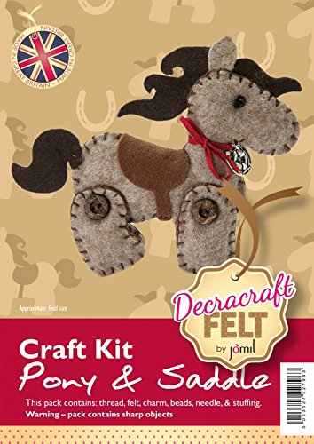 Create Your Own Felt Character Craft Kit Pony and Saddle Jomil