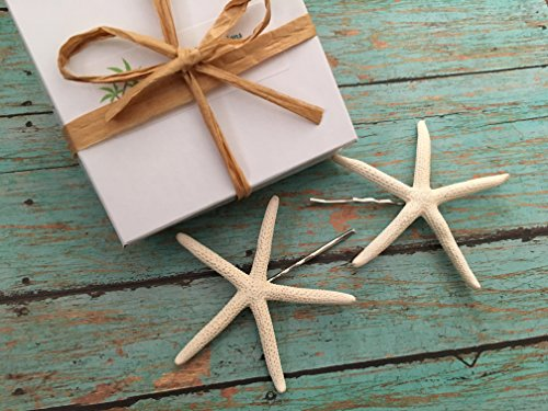 [Finger Starfish Beach Bobby Pins, Set of 2] (Costume Land)