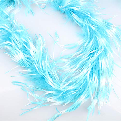 Maslin New Arrival ! 2 Yards/lot Luxury Multiple Colors Ostrich Marabou Feather BOA - Dance, Costume, Burlesque DIY Accessories - (Color: Orange)
