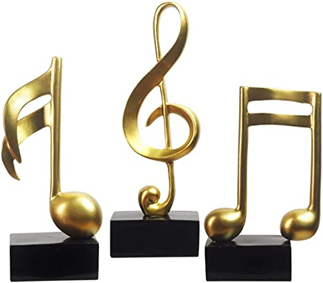 Beautiful Gold G Clef /& Piano Keys Music Table Top Sculpture,home decor SALE