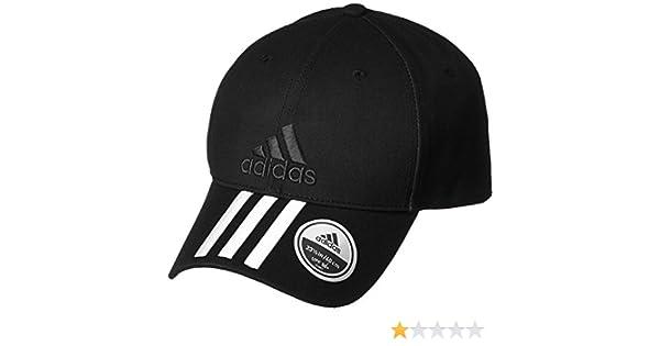 Amazon.com : Six-Panel Classic 3-Stripes Cap (OSFM, Black/White/Black) : Sports & Outdoors