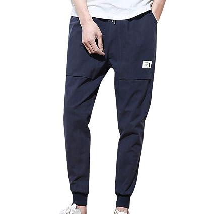 ZHRUI Pantalones para hombre, pantalones de trabajo formal ...