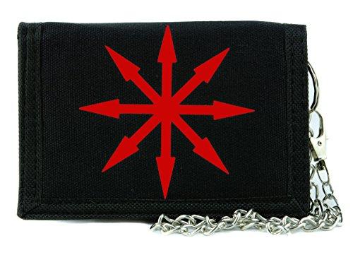 (Red Chaos Star Symbol of Eight Tri-fold Wallet Warhammer Alternative Clothing)