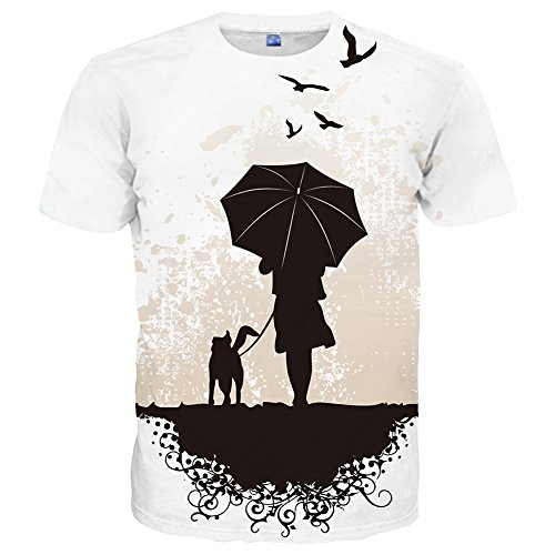 Yasswete Mens Graphic T-Shirts Unisex Top 3D Printed Short Sleeve Casual Shirts Size S]()