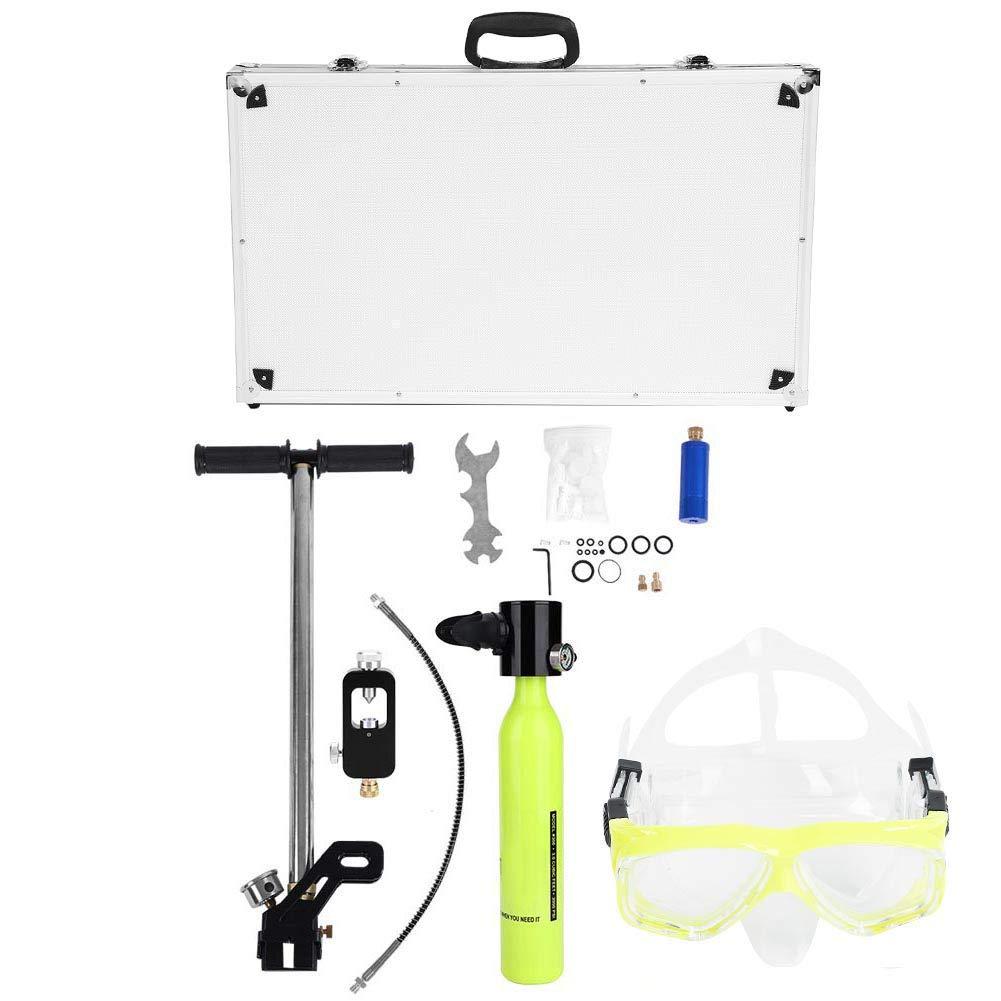 Tbest Mini Scuba Diving Equipment,Oxygen Cylinder High Pressure Air Pump Scuba Tank Refill Adapter Set Diving Breathe Underwater with Scuba Tank Refill Adapter