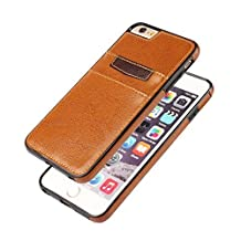 iPhone 6 and 6s Leather Phone Case with Card Slots (Light Brown)
