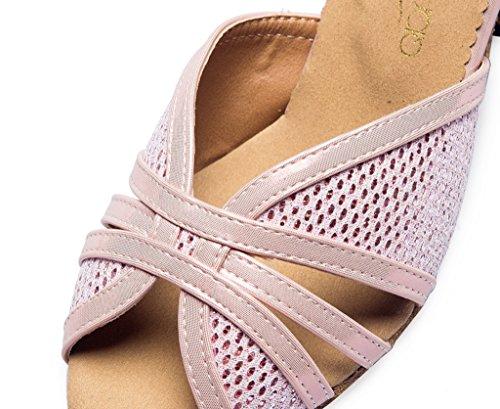 CRC Womens Stylish peep Toe High Heel Synthetic Salsa Ballroom Morden Salsa Latin Tango Party Wedding Professional Dance Sandals Pink 0LjdCbuNNQ