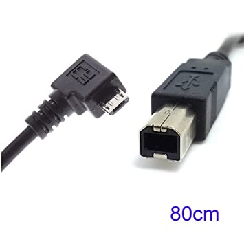 80 cm ángulo recto 90 grados Micro USB OTG a Standard B Tipo ...