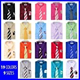 #9: Berlioni Boys Long Sleeve Dress Shirts With Tie & Hanky Many Colors