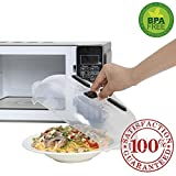 Microwave Hover Splatter Cover Guard, Magnetic Microwave Anti-Splatter Plate Lid w/ Steam Vents For Food, Work On Metal Flat Top Microwave Only- BPA Free & Dishwasher Safe 11.5 Inch