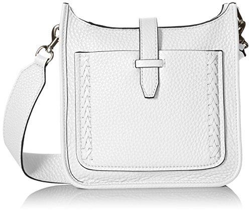 Rebecca Minkoff Mini Unlined Feed Bag with Whipstich, Optic White (White Designer Purses)