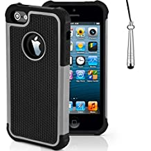 Case for Apple iPhone SE Shockproof Phone Cover with Screen Protector / iCHOOSE / Grey