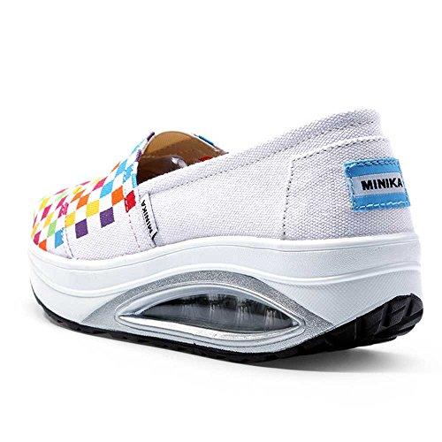 EU Zapato Blanco 3 37 Color tamaño Transpirable Lona Cómodo tembloroso 1 FangYOU1314 Femenino Blanco BqxAZ7Txnw
