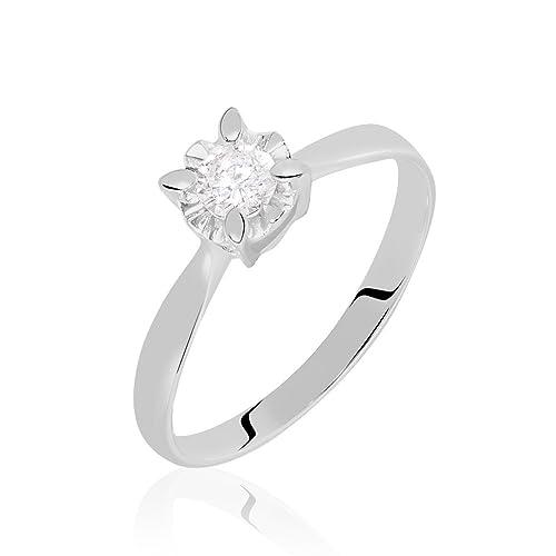 nuovo concetto 7ddd0 9fcd2 Stroili - Solitario Diamazing in oro bianco 18 kt e diamanti ...