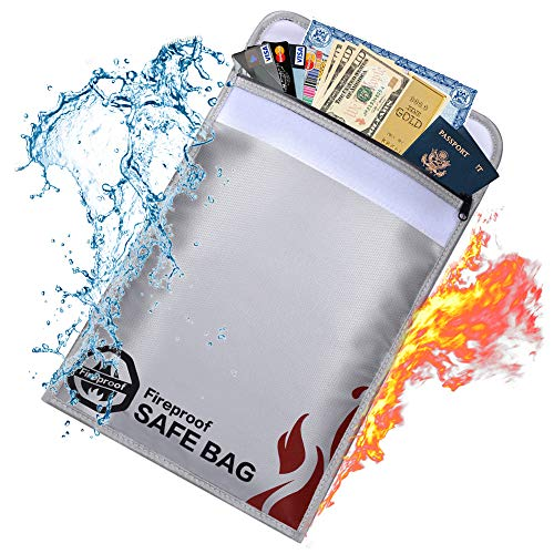 Fire Safe Bags - Fireproof Document Bags-15x11