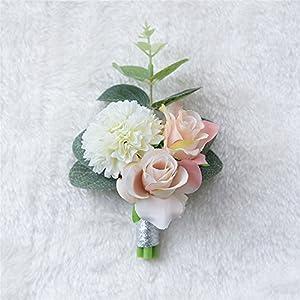MOJUN Boutonniere Buttonholes Groom Groomsman Best Man Rose Wedding Flowers Accessories Prom Suit Decoration 2