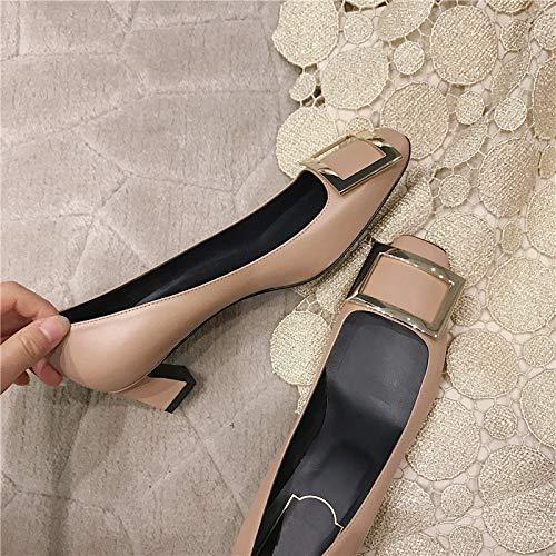 Yukun Schuhe mit hohen Absätzen Rote High Heels Heels Heels Toasted Buckle Wies Hohe Ferse Weibliche Starke Ferse 38 Rot 9f389a