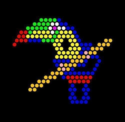 photo relating to Printable Lite Brite Patterns called Lite Brite Refill: The Zoo (Sq.) - Obtain 2, order 1 Totally free - Import It All