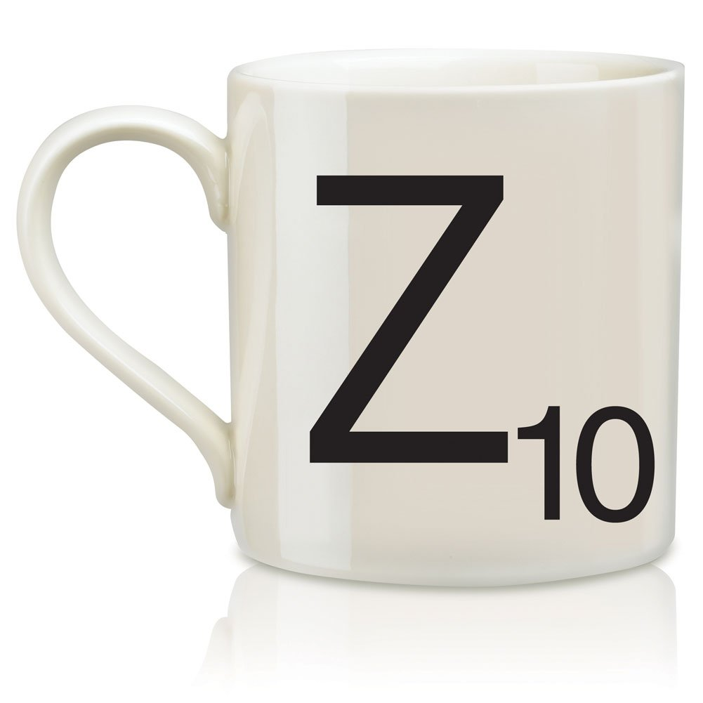 Amazon scrabble letter ceramic m scrabble mug creamblack z scrabble alphabet mug coffee hot beverage cup dailygadgetfo Gallery