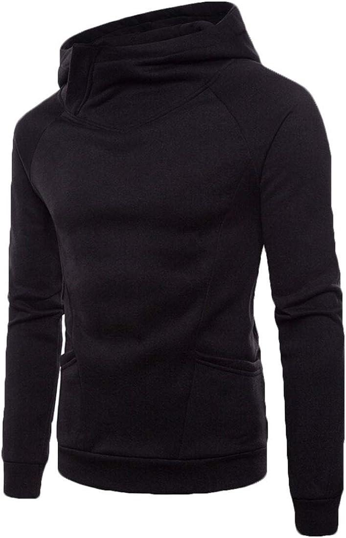 desolateness Blouses Mens Long-Sleeve Autumn Loose Fit Casual Shirt Hoodies Sweatshirt Blouses