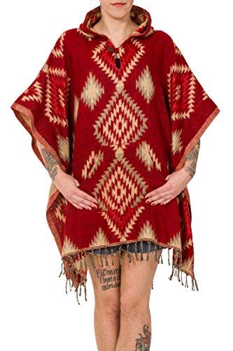 ThaiUK - Poncho - para mujer Aztec Red