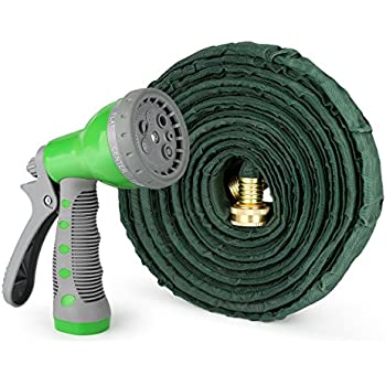 This Item 1byone Flat Garden Hose With 7 Function Spray Nozzle And High  Pressure, Water Hose For Washing Cars Or Driveways, Showering Pets,  Watering Garden ...