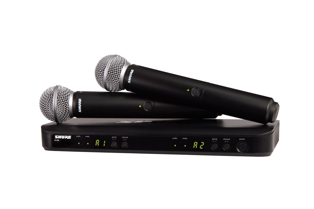 SHURE ワイヤレスシステム BLXシリーズ SM58 ハンドヘルドマイク(2本) 付属 BLX288J-SM58JB 【国内正規品】 B00E09NE4G