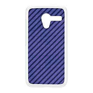 Diagonal Stripes - Purple White Hard Plastic Case for Moto X by Gadget Glamour + FREE Crystal Clear Screen Protector