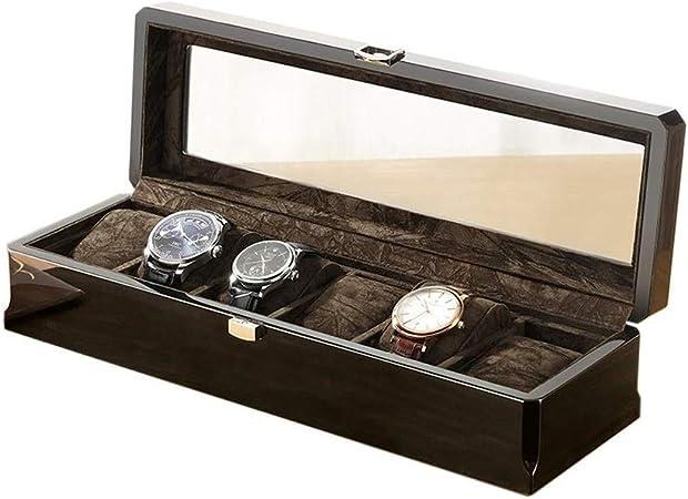 Cajas para relojes Reloj de la joyería Caja de Almacenamiento de 6 Caja de Reloj de