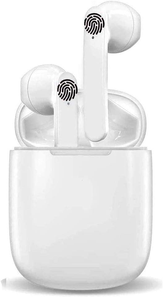 Auriculares Bluetooth 5.0 Auriculares Inalambricos Cascos Deportivos Estéreo con Mic y Cancelación de Ruido Caja de Carga Compatible con Android/iPhone/Samsung