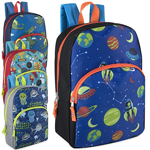 Lot of 24 Wholesale 15 Inch Printed Character Backpacks for -