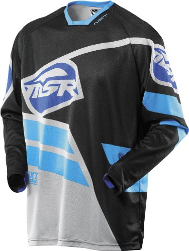 MSR Racing NXT Mission Men's Off-Road Motorcycle Jersey - Black/Gray / (Msr Mens Dirt Motorcycle)