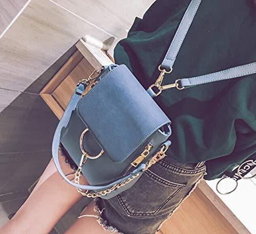 A Americana Catena Donna Da Zaino Smerlata Casual Con Europea Borsa E Moda Blue na6SFIqxn