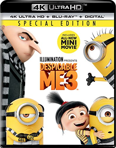 4K Blu-ray : Despicable Me 3 (With Blu-Ray, Ultraviolet Digital Copy, 4K Mastering, Special Edition, Digital Copy)